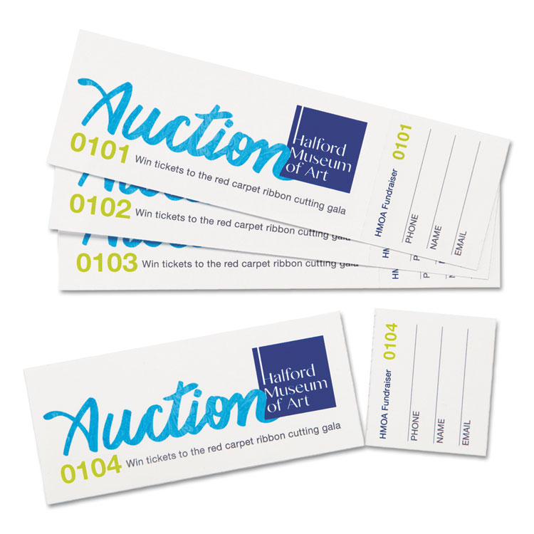 Printable Tickets by Avery, Tear-Away Stubs, 1-3/4 x 5-1/2, Matte ...