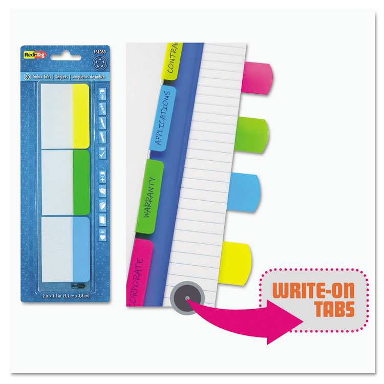 Write On Self Stick Index Tabs By Redi Tag 174 Rtg33248