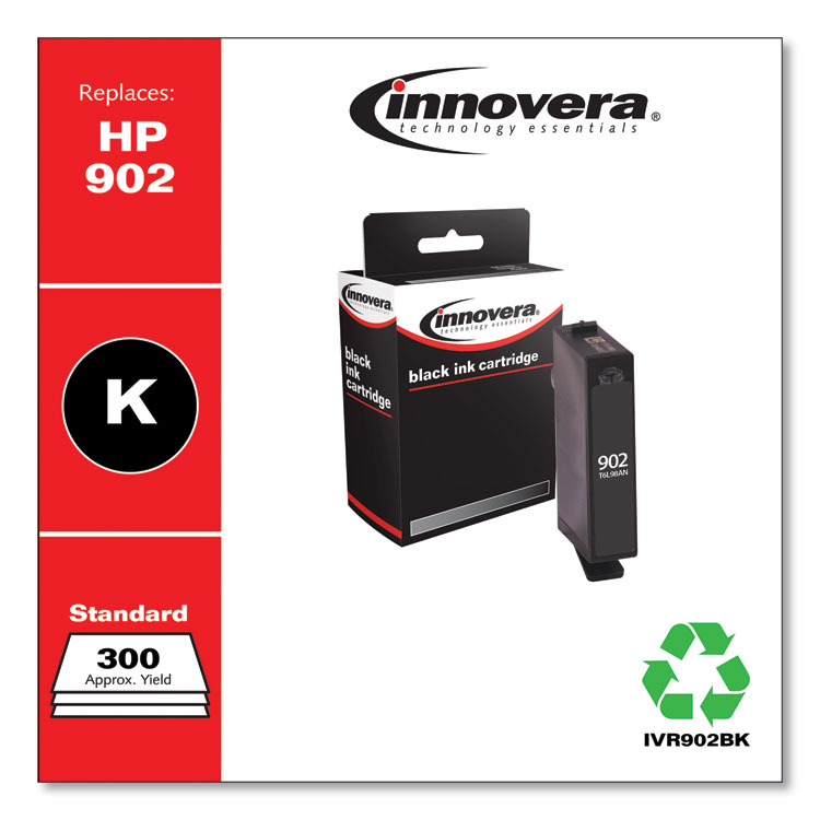 Innovera remanufactured alternative for HP 902 Ink Cartridge, Black (T6L98AN)