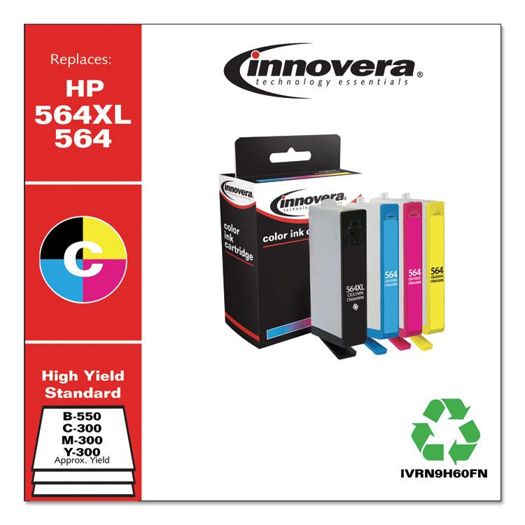 Innovera remanufactured alternative for HP CN684WN CN685WN CN686WN CN687WN HP 564XL 4 Pack