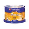 Verbatim® DVD-R Discs, 4.7GB, 16x, Spindle, Silver, 50/Pack