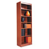 Alera® Narrow Profile Bookcase, Wood Veneer, 6-Shelf, 24w x 12d x 72h, Medium Oak