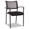 Alera® Alera Eikon Series Stacking Mesh Guest Chair, Black Seat/Black Back, Black Base, 2/Carton