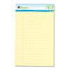 Universal® Sugarcane Sugarcane Based Writing Pads, Wide Rule, 8 x 5, Canary, 2 50-Sheet Pads/Pack