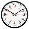 Universal® 24-Hour Round Wall Clock, 12.63