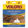 Velcro® Sticky-Back Hook and Loop Fastener Tape with Dispenser, 3/4 x 15 ft. Roll, White
