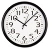 Universal® Round Wall Clock, 13-1/2in, Black