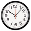 Universal® Indoor/Outdoor Clock, 13-1/2in, Black