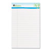 Universal® Sugarcane Sugarcane Based Writing Pads, Wide Rule, 8 x 5, White, 2 50-Sheet Pads/Pack