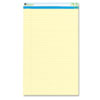 Universal® Sugarcane Sugarcane Based Writing Pads, Wide Rule, 14 x 8-1/2, Canary, 2 50-Sheet Pads/Pk