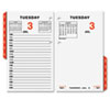 AT-A-GLANCE® Two-Page-Per-Weekday Calendar Refill, 3 1/2