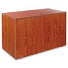 Alera® Valencia Series Reversible Return/Bridge Shell, 47-1/4w x 23-5/8d, Medium Cherry