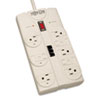 Tripp Lite Protect It! Computer Surge Protector, 8 Outlets, 8 ft. Cord, 2160 J, Light Gray