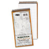 TOPS® Second Nature Spiral Reporter/Steno Notebook, Gregg Rule, 4 x 8, White, 70-Sheet