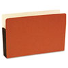 S J Paper Standard File Pocket, 3 1/2 Inch Expansion, 14 3/4 x 9 1/2, Legal, Red, 25/Box
