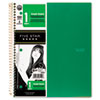 Five Star® Wirebound Notebooks, Quad ,1Subject White,8 1/2 x 11,100 Sheets, Assorted
