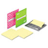 Post-it® Laptop Notes Super Sticky Laptop Note Dispenser, 3 x 3, Gray, Pink, Green, 3 per Pack