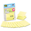 Post-it® Laptop Notes Super Sticky Laptop Pop-up Notes Refill, 3 x 3, Canary Yellow, 10 20-Sheet Pads/Pack