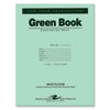 Roaring Spring® Green Books Exam Books, Stapled, Wide Rule,11 x 8 1/2, 8 Sheets/16 Pages