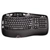 Logitech® K350 Wireless Keyboard, USB Unifying Receiver, Black