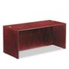 Verona Veneer Straight Front Desk Shell, 65w x 29-1/2d x 29-1/2h, Mahogany