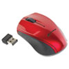 Innovera® Mini Wireless Optical Mouse, 2.4 GHz Frequency/30 ft Wireless Range, Left/Right Hand Use, Red/Black