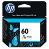 HP HP 60, (CC643WN) Tri-color Original Ink Cartridge