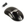 Fellowes® Optical Cordless Mouse, Antimicrobial, Five-Button/Scroll, Black/Silver