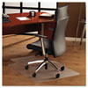 Floortex® ClearTex Ultimat Polycarbonate Chair Mat for Hard Floors, 48x53, With Lip, Clear
