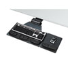Fellowes Professional Corner Executive Keyboard Tray, 19 x 14-3/4, Black