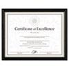 DAX® Two-Tone Document/Diploma Frame, Wood, 8 1/2 x 11, Black w/Gold Leaf Trim