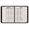 AT-A-GLANCE® Triple View Weekly/Monthly Appointment Book, Black, 8 1/4