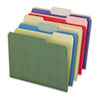 Pendaflex® Earthwise® Recycled Paper File Folders, 1/3 Cut Top Tab, Letter, Assorted, 50/Box