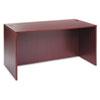 Alera® Alera Valencia Series Straight Desk Shell, 59.13w x 29.5d x 29.63h, Mahogany