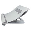 Kelly Computer Supply Deluxe Aluminum Notebook Riser with Cooling Fan, Silver, 12 1/4 x 11 1/2 x 2 3/4