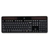 Logitech® K750 Wireless Solar Keyboard, 2.4 GHz/30 ft, Black