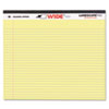 Roaring Spring® Landscape Format Writing Pad, College Ruled, 11 x 9-1/2, Canary, 40 Sheets