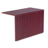Alera® Valencia Series Reversible Return/Bridge Shell, 47-1/4w x 23-5/8d, Mahogany