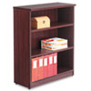 Alera® Alera Valencia Series Bookcase, Three-Shelf, 31 3/4w x 14d x 39 3/8h, Mahogany