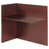 Alera® Alera Valencia Reversible Reception Return, 44 1/8w x 23 5/8d x 41 1/2h, Mahogany