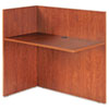 Alera® Valencia Reversible Reception Return, 44w x 23-5/8d x 41-1/2h, Medium Cherry
