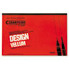 Clearprint Design Vellum Paper, 16lb, White, 11 x 17, 50 Sheets/Pad