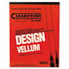 Clearprint® Design Vellum Paper, 16lb, White, 8-1/2 x 11, 50 Sheets/Pad