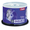 imation® DVD+R Recordable Discs on Spindle, 4.7GB, Silver, 50/Pack