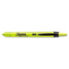 Sharpie® Accent Retractable Highlighters, Chisel Tip, Fluorescent Yellow, 12/Pk