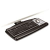 Sit/Stand Easy Adjust Keyboard Tray, Standard Platform, 25-1/2w x 12d, Black