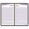 Recycled Daily Appointment Book, Black, 4 7/8