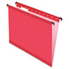 Pendaflex® SureHook™ Poly Laminate Hanging Folders, Letter, 1/5 Tab, Red, 20/Box