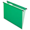 Pendaflex® SureHook™ Poly Laminate Hanging Folders, Letter, 1/5 Cut, Bright Green, 20/Box