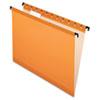 Pendaflex® SureHook™ Poly Laminate Hanging Folders, Letter, 1/5 Cut, Orange, 20/Box